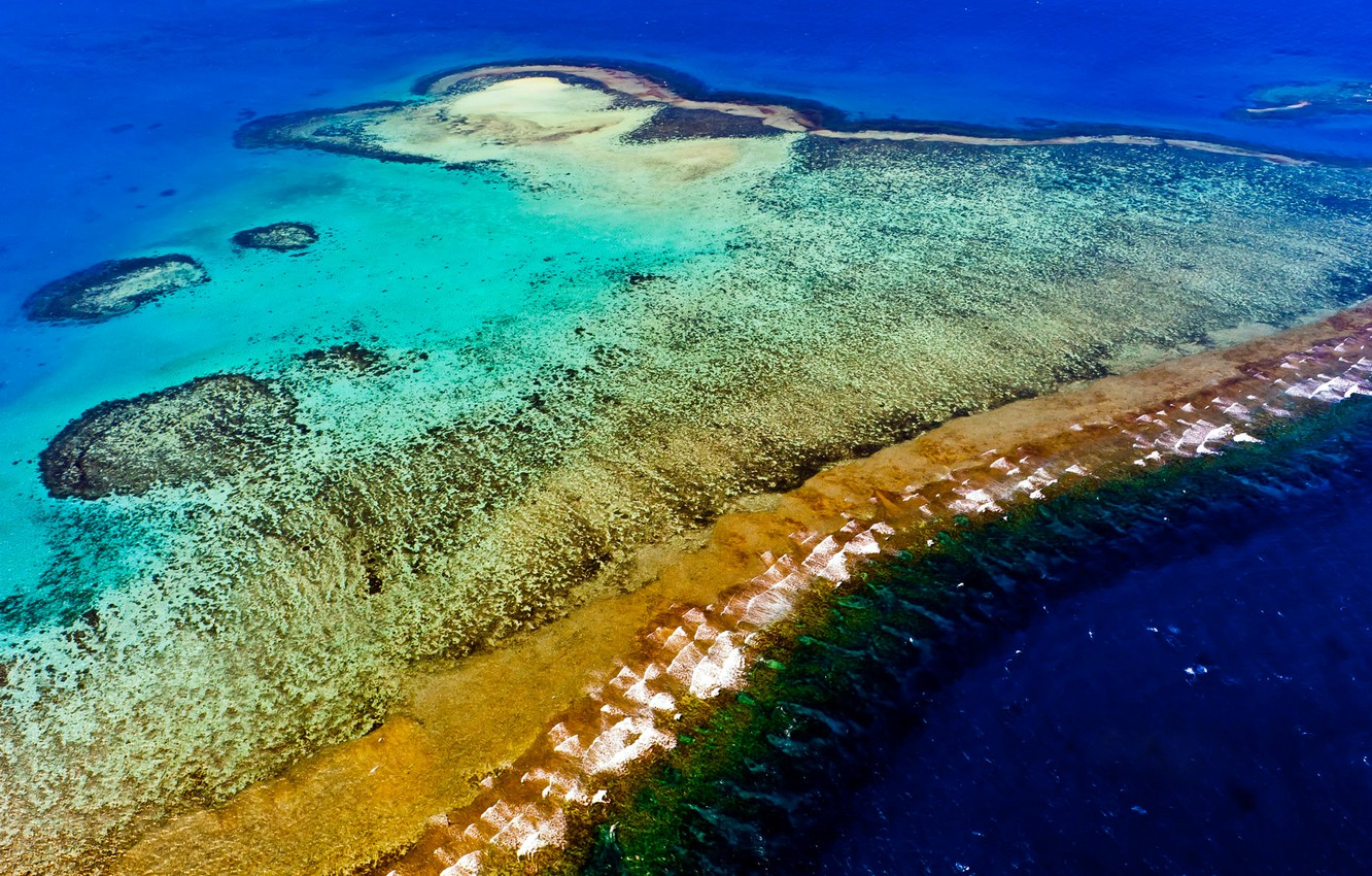 Wallpaper the ocean Noumea barrier reef New Caledonia images 1332x850