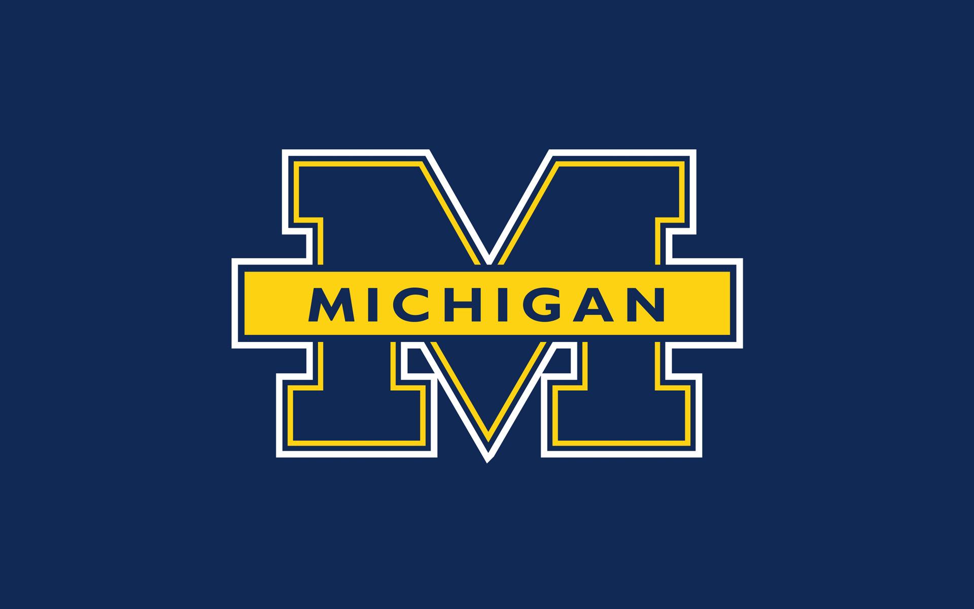 University Blue Logo Michigan wallpaper background 1920x1200
