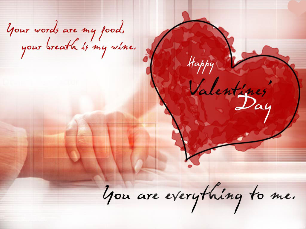 Beautiful Romantic Happy Valentines Day wallpaper Download 1024x768