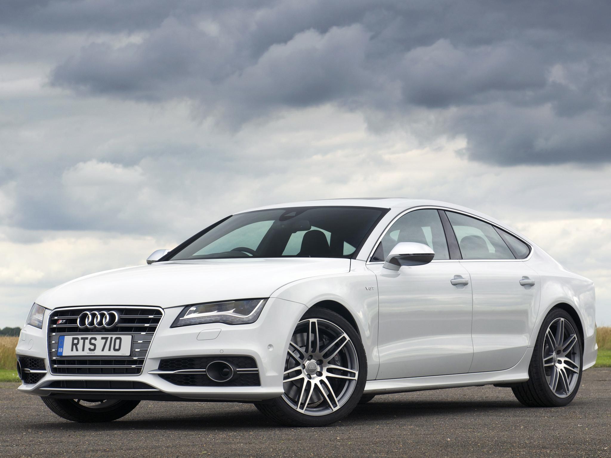 White Audi S7 Wallpaper   HD 2048x1536