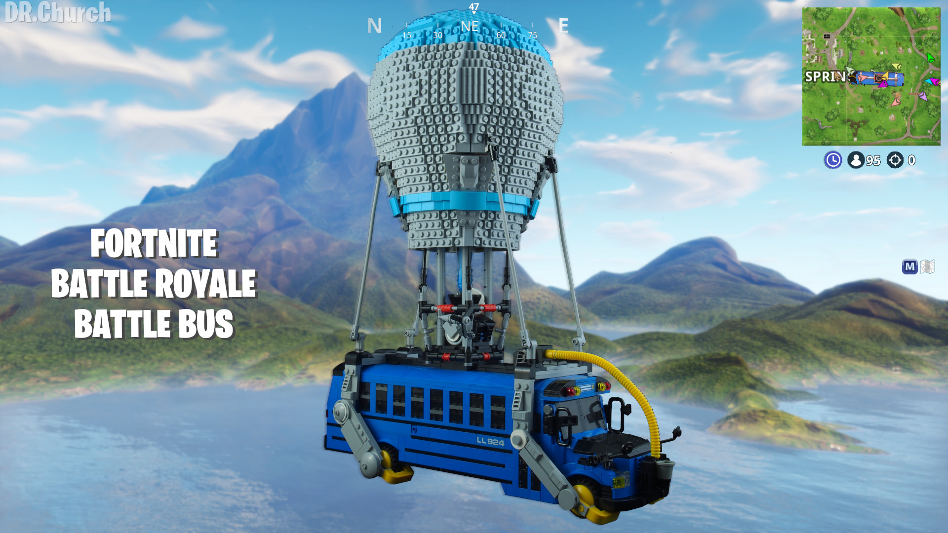I made the Battle Bus from Fortnite Battle Royale out LEGO 1920x1080