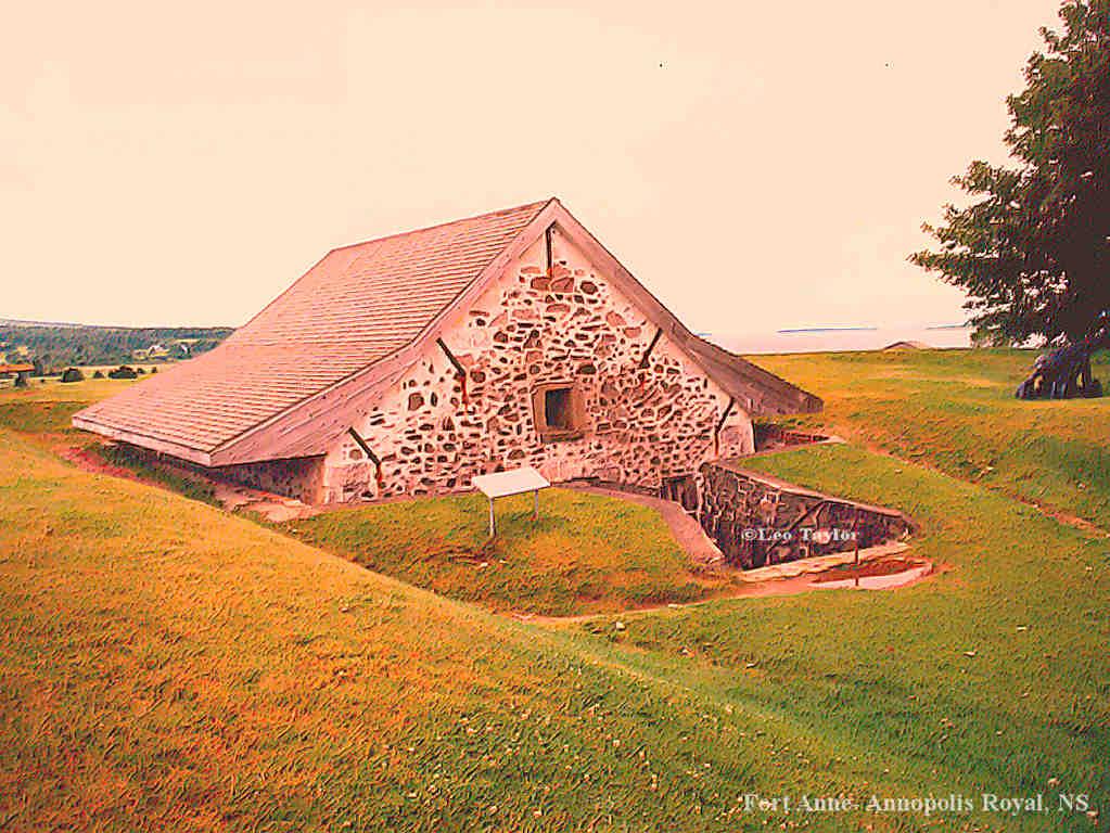 Painted   Powder magazine at Fort Anne Annopolis Royal NS   1024x768 1023x768