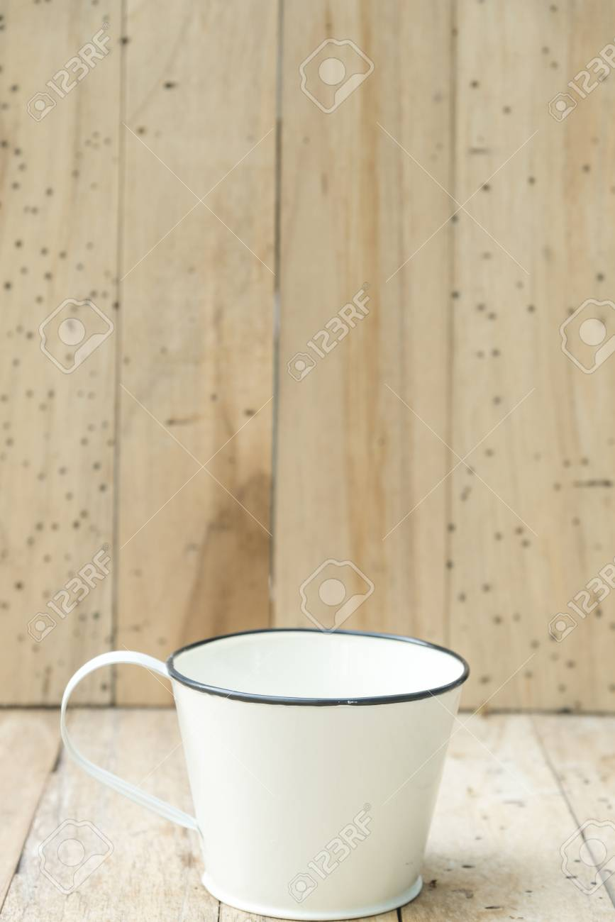 Bucket Of Water On Wood Background Vintage Filtered Images Stock 867x1300