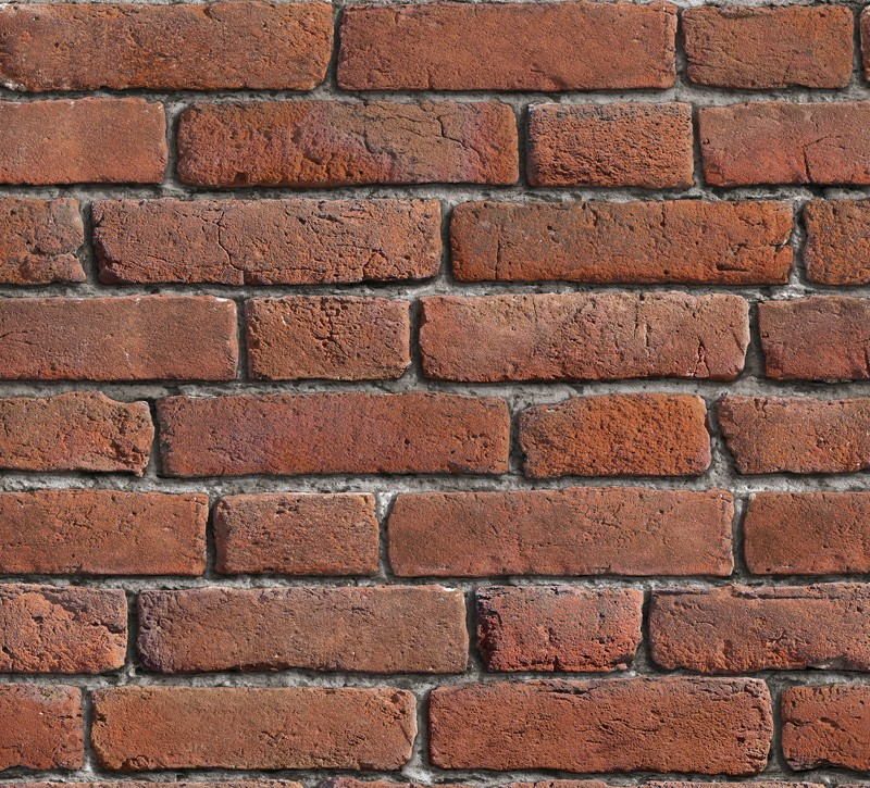 Vintage Brick Wall Wallpaper Red 10M 800x725