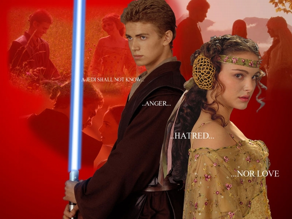 Anakin and Padme Wallpaper   Anakin and Padme Wallpaper 6345932 1024x768