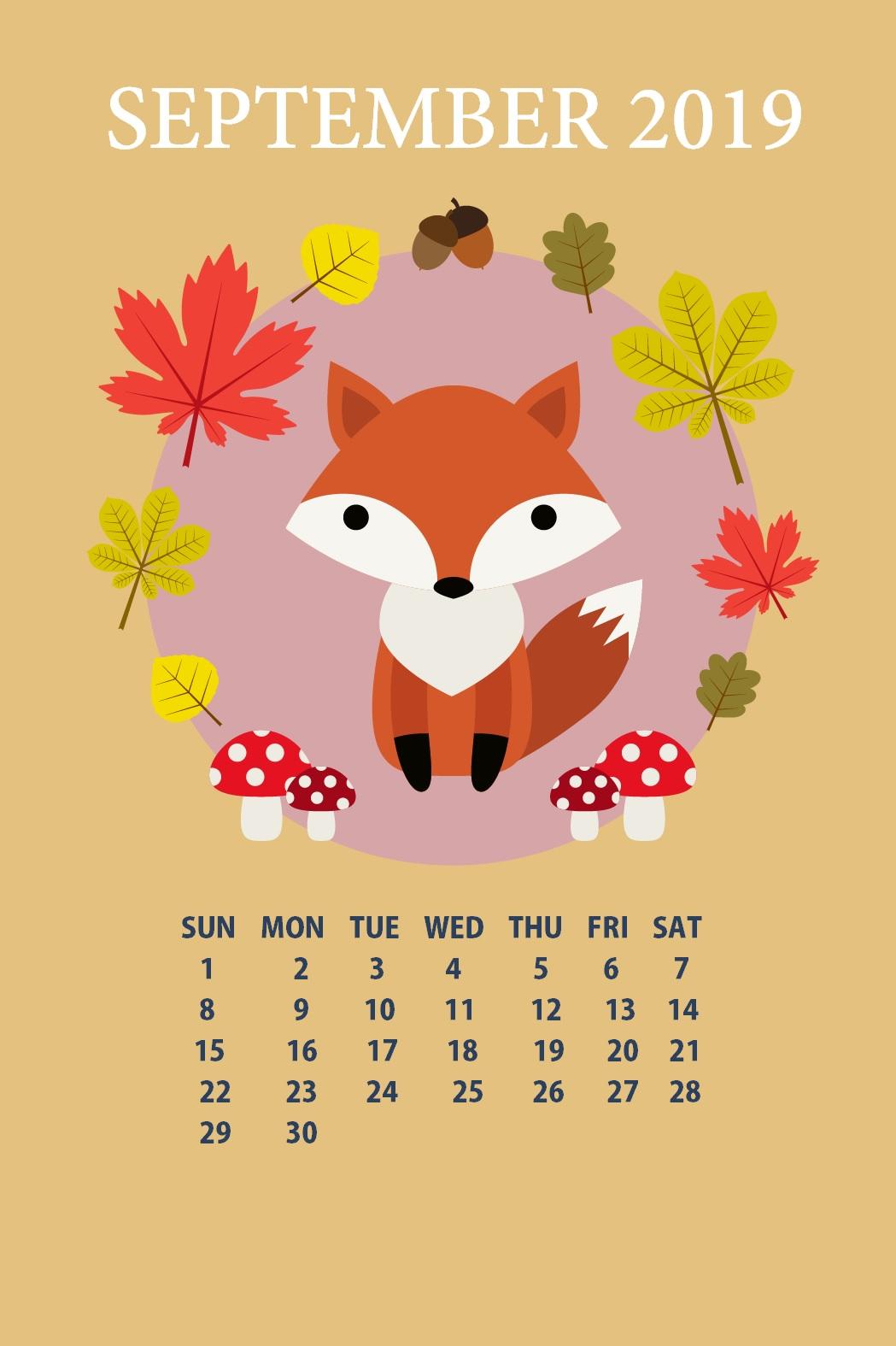 iPhone September 2019 Calendar Wallpaper Max Calendars 1049x1575