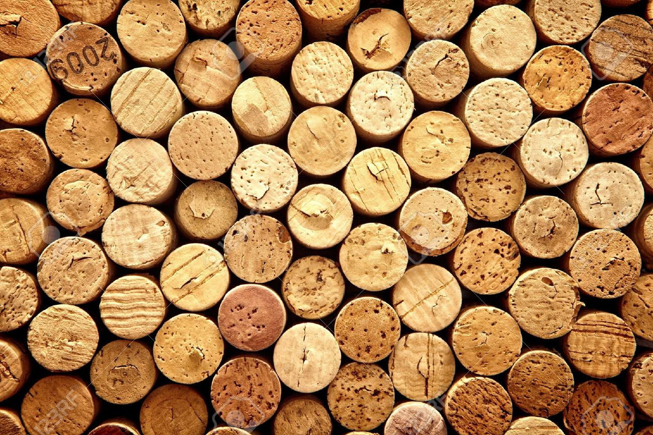 Background Pattern Of Wine Bottles Corks Stock Photo Picture And 1300x866