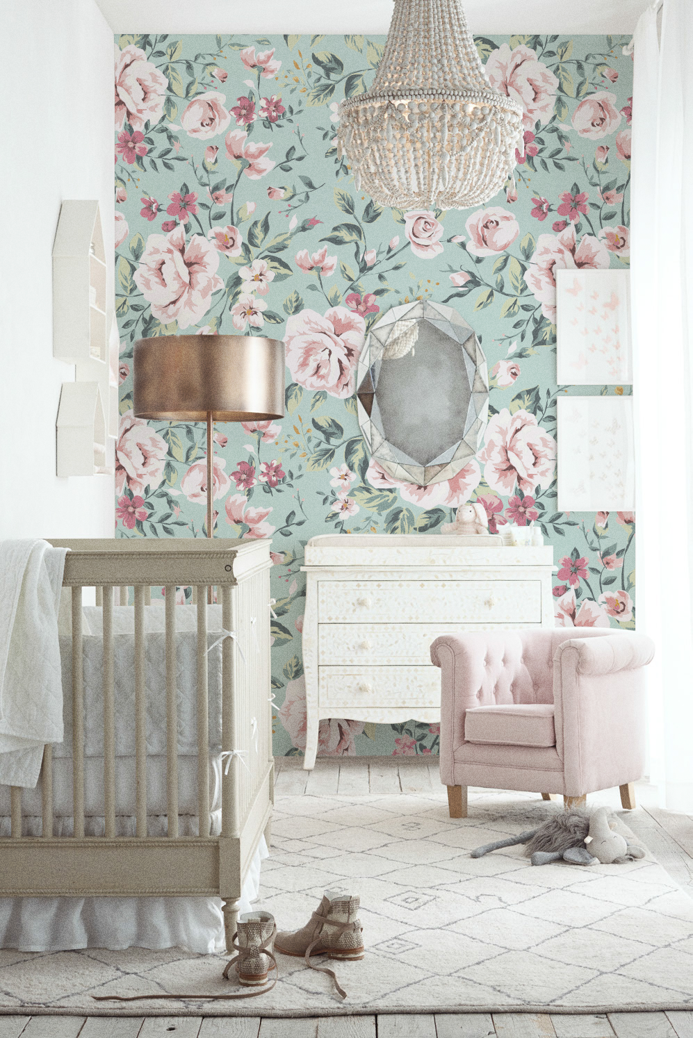 Free Download Nursery Floral Removable Wallpaper Vintage And 50