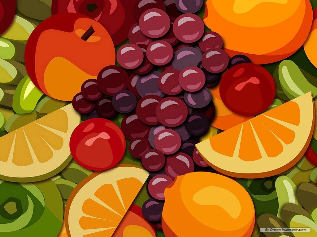 Mixed Fruit Wallpaper   Fruit Wallpaper 7004507 1024x768