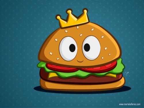 cartoon hamburger wallpaper - photo #12