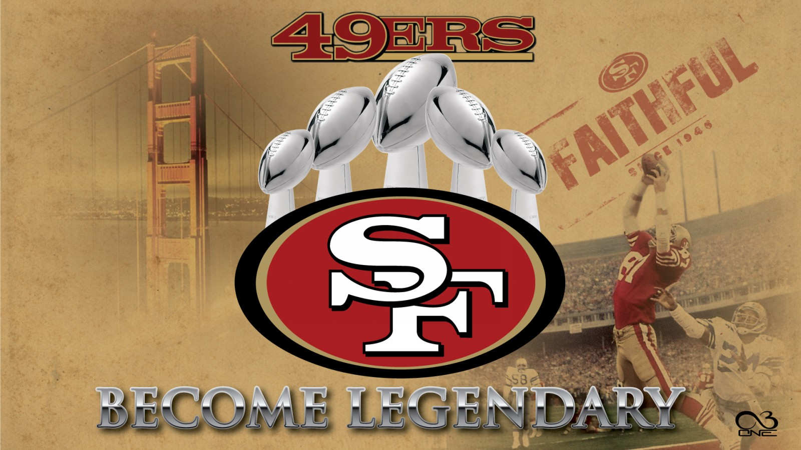 c1816b49 49+] San Francisco 49ers Wallpaper Screensavers on WallpaperSafari