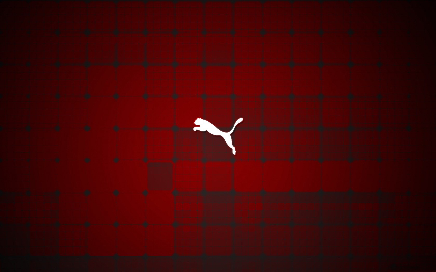 White Puma Logo Red Background HD Wallpaper Image For Your 1680x1050