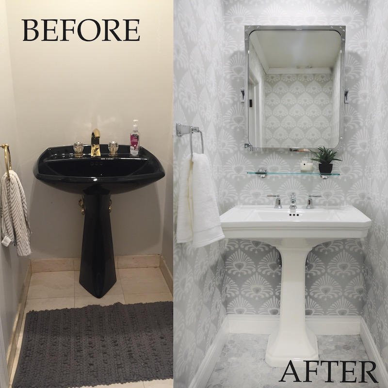 Somewhere Lately My Powder Room Before After 800x800
