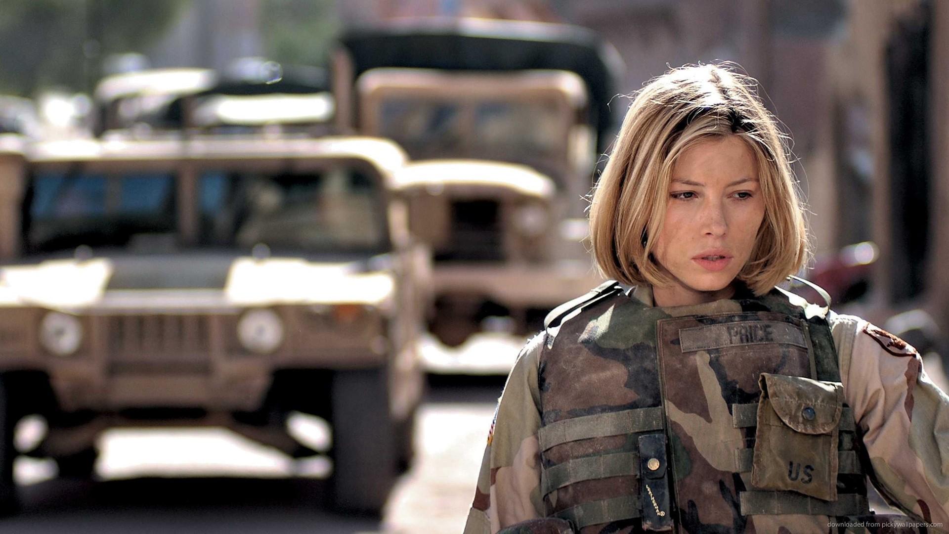 Jessica Biel Military Uniform Wallpaper For Samsung Galaxy Tab