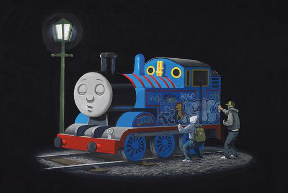 wwwstencilrevolutioncombanksy art printsthomas the tank engine 580x389