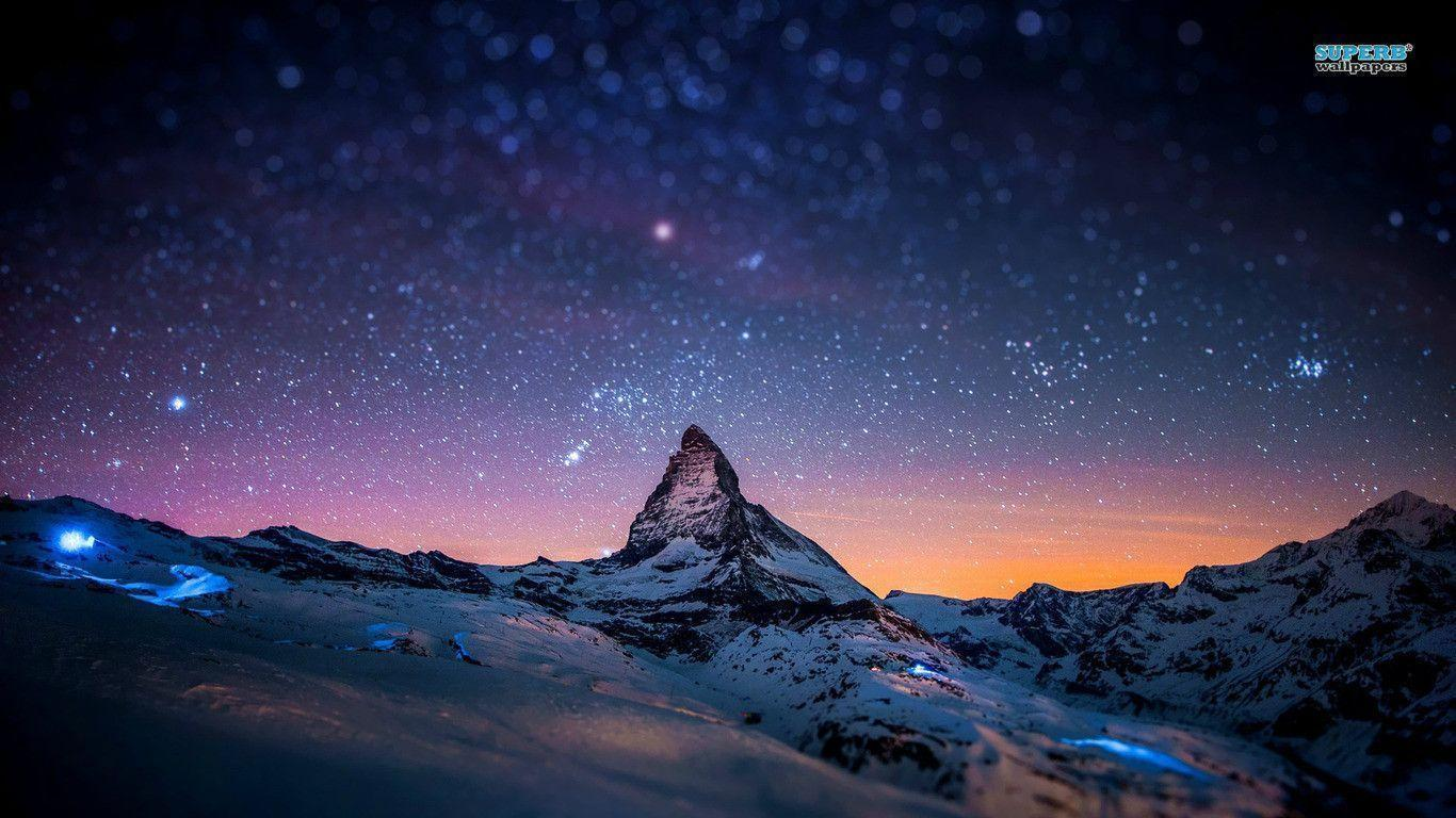 Starry Night Sky Wallpapers 1366x768
