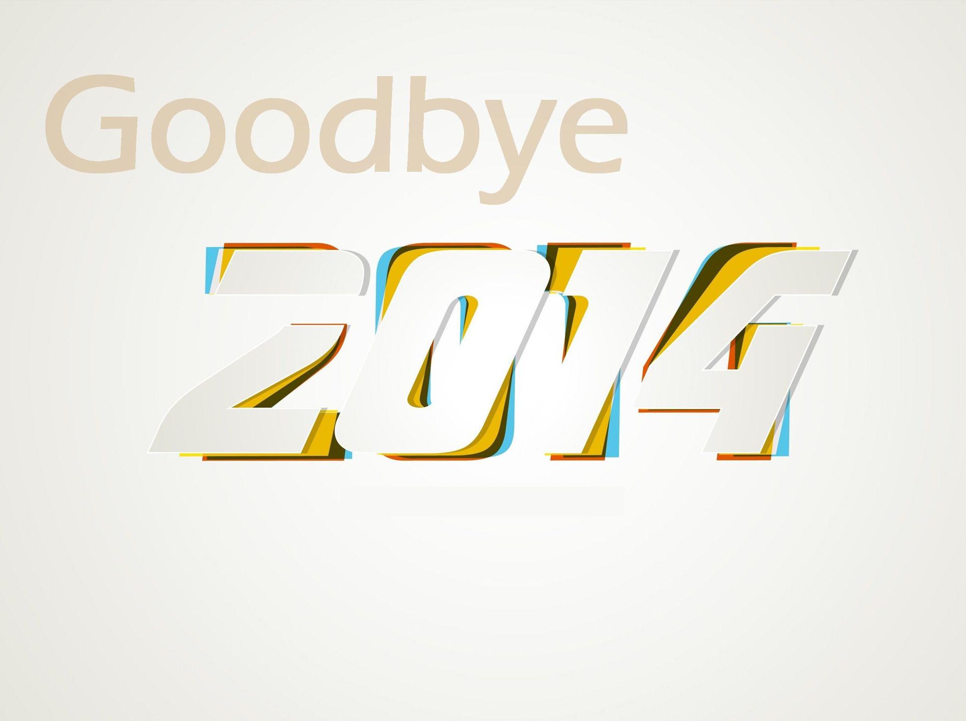 Goodbye 2014 beautiful wallpaper in HD 1920x1434