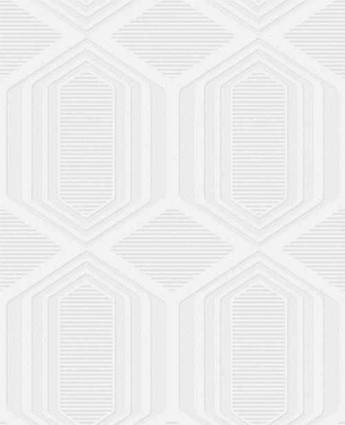 Paintable Textured Wallpaper Geometric 500x615