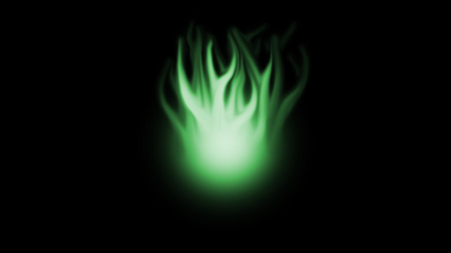 Green Flame Background by WorkBookDrawings 900x506