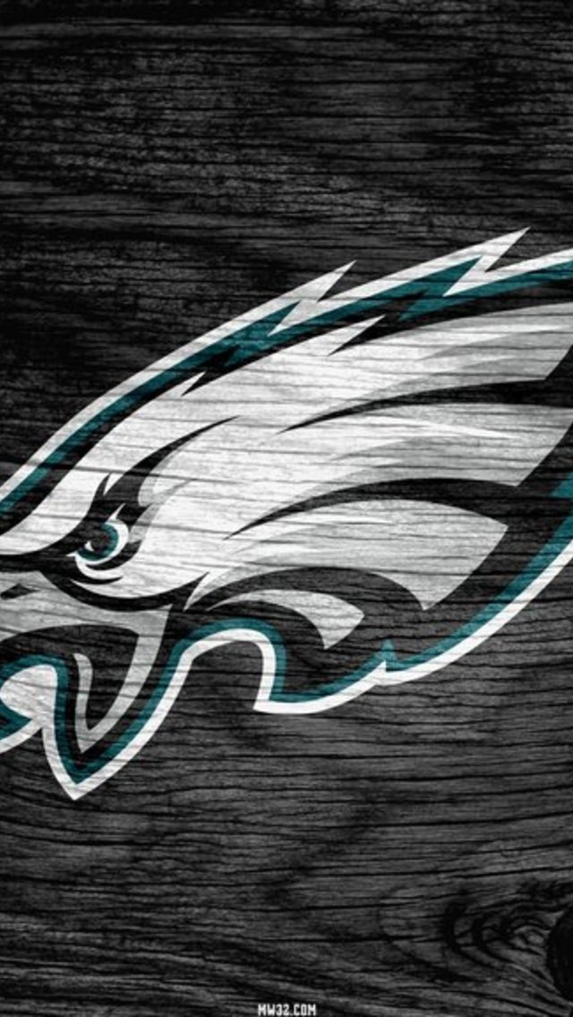 Philadelphia Eagles Grey Weathered Wood Wallpaper For IPhone 5