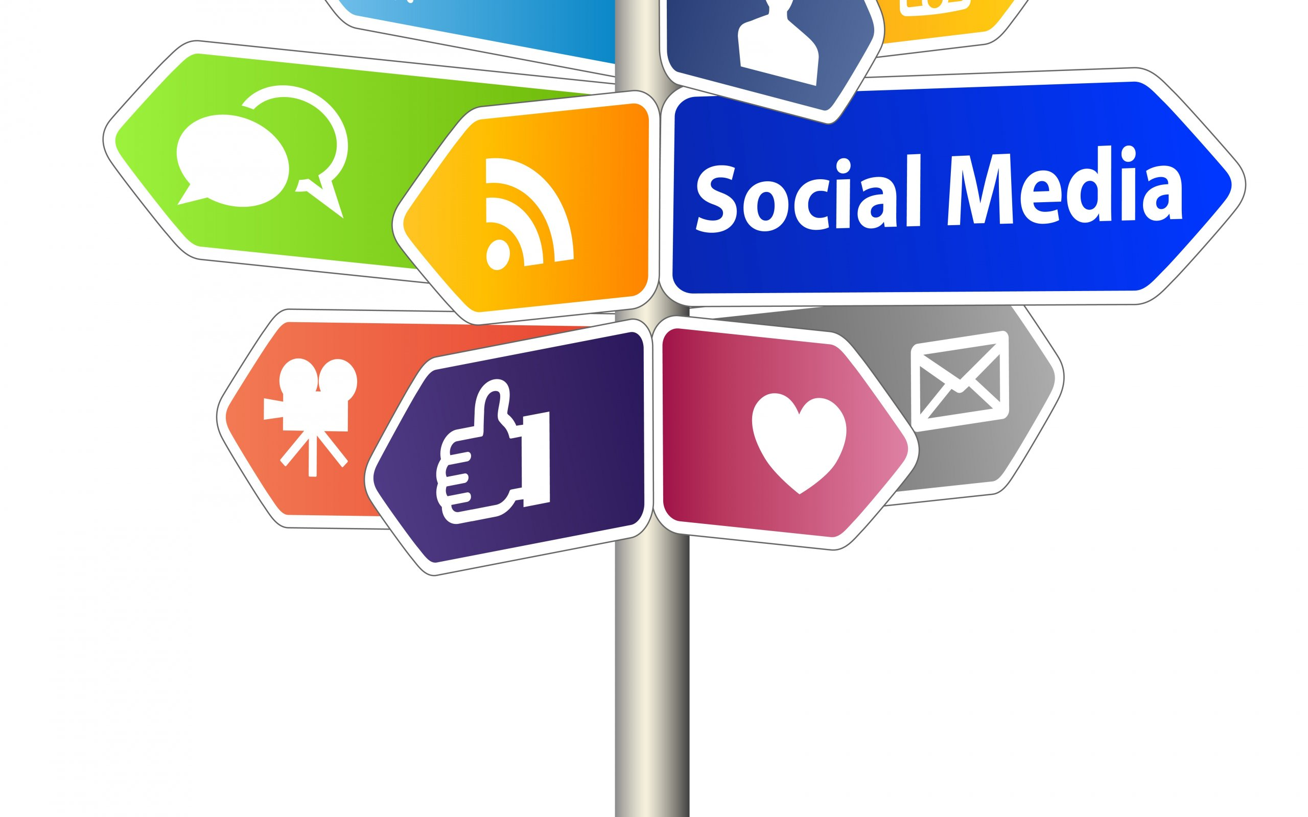 social media direction board icons internet wallpapers hd 2560x1600