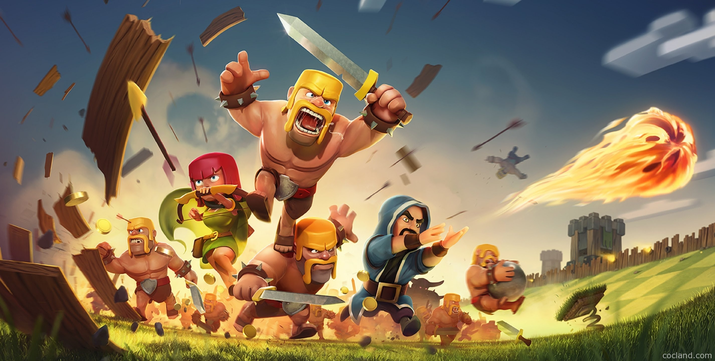 Clash of Clans Barbarian Wallpapers HD Full HD Pictures 2852x1440