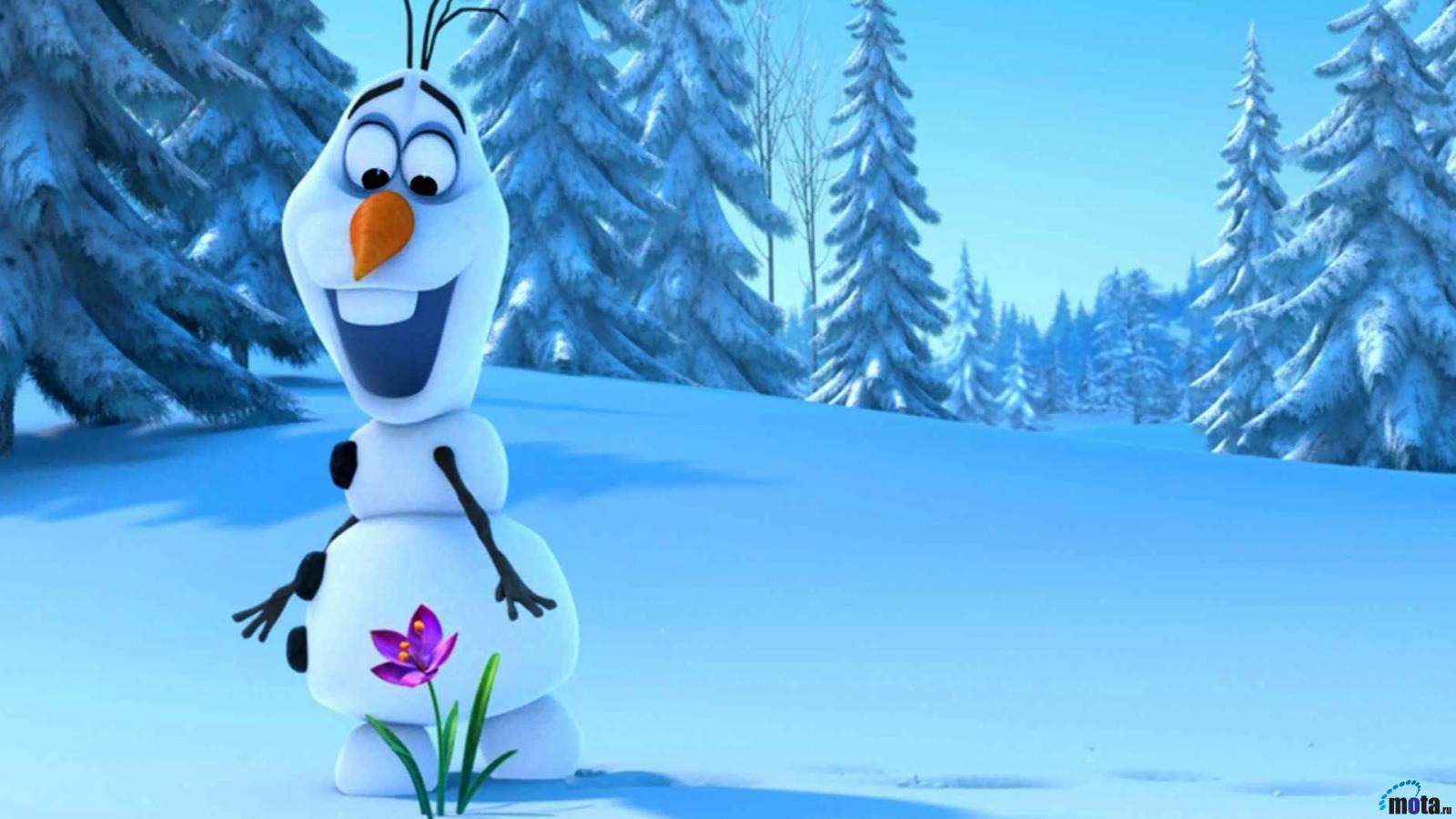 Wallpaper Olaf and snowdrop   Frozen 1600 x 900 widescreen Desktop 1600x900