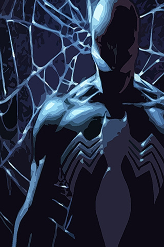 black spiderman iphone wallpaper 640x960