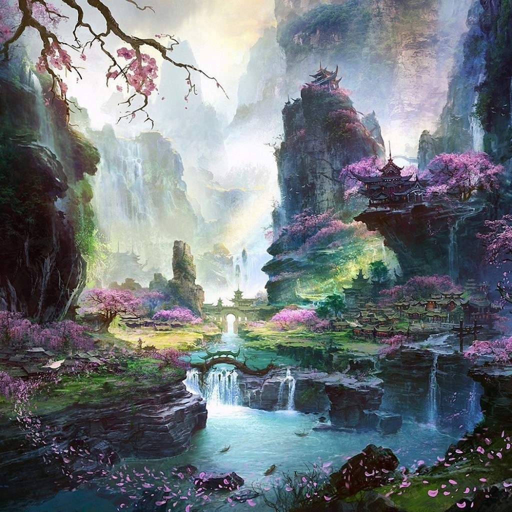 Japanese Landscape iPad Wallpaper   Download iPad wallpapers 1024x1024
