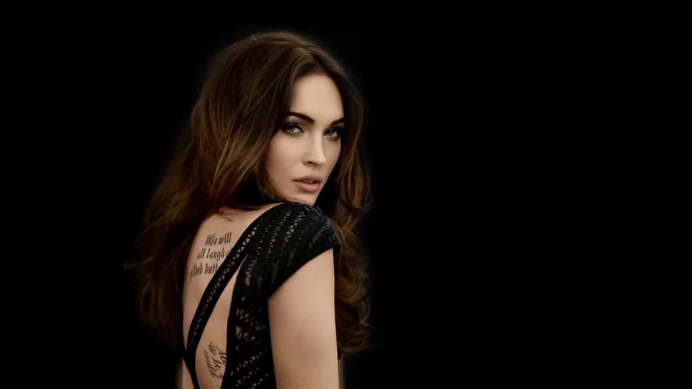 Megan Fox Tattoo HD Wallpaper Slwallpapers 1366x768