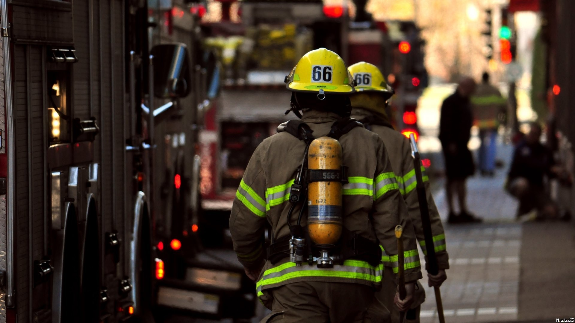 Firefighter Streets Urban Fireman Wallpaper firemans on 1920x1080