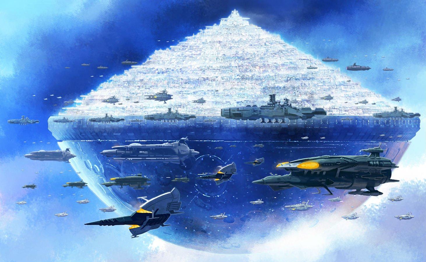 Free Download Aircraft City Fmu Space Battleship Yamato Wallpaper