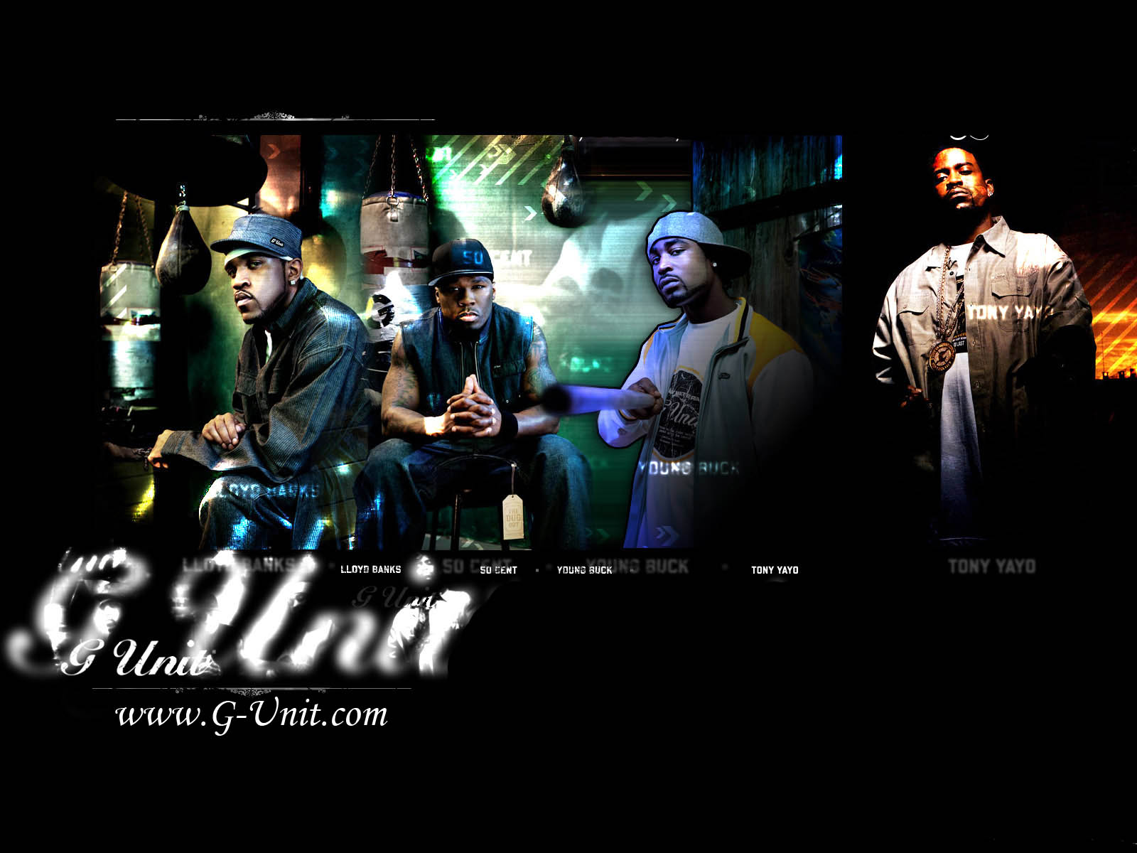 UNIT 50 CENT gangsta rap rapper hip hop unit cent poster hr 1600x1200