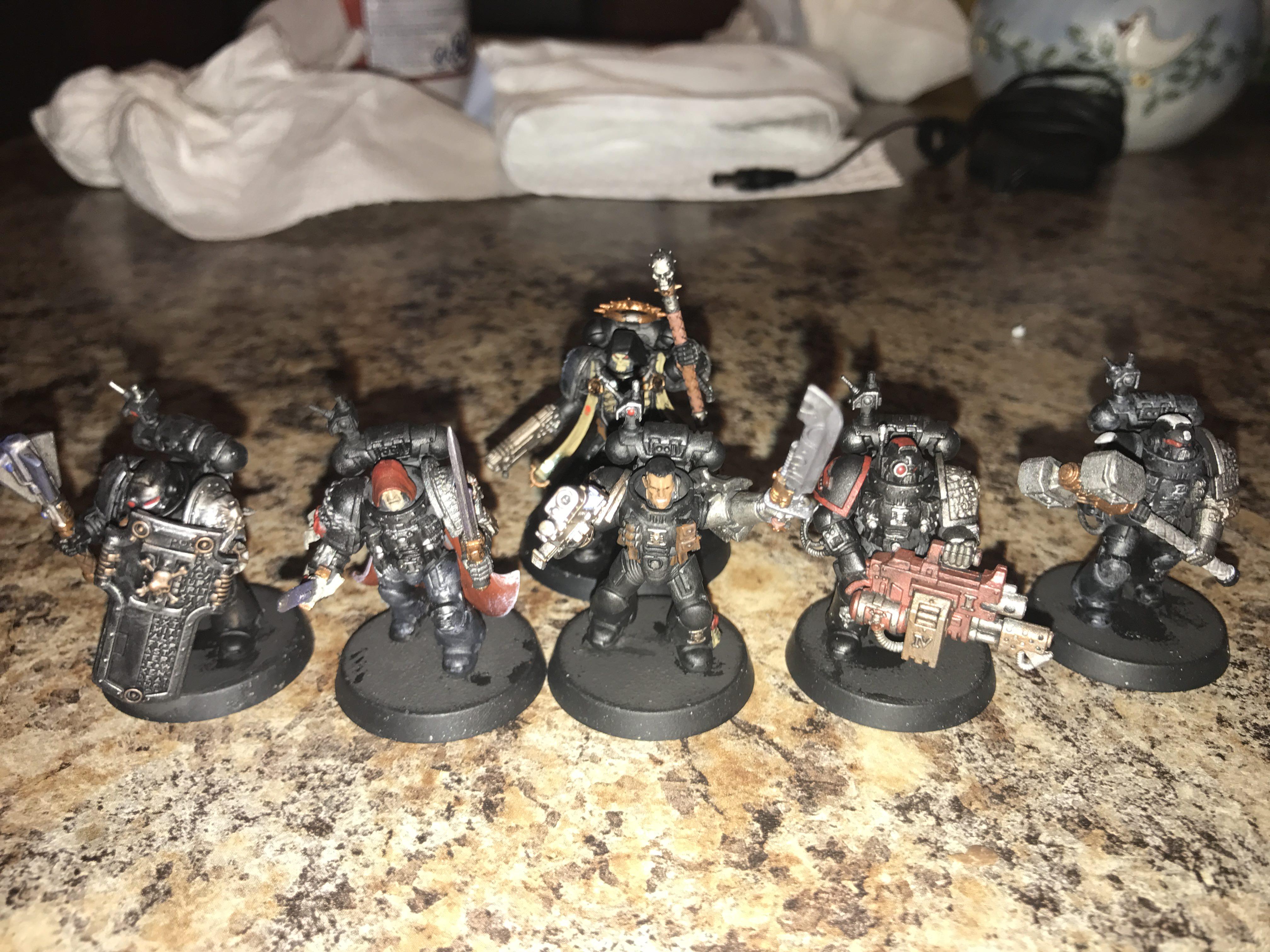 First Deathwatch Kill Team painted bonus chaplain in background 4032x3024
