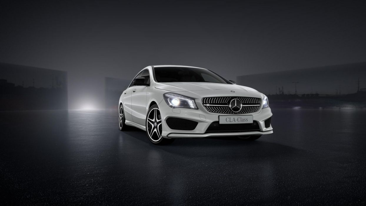 Cars AMG white cars Mercedes Benz auto CLA cla 200 wallpaper 1244x700