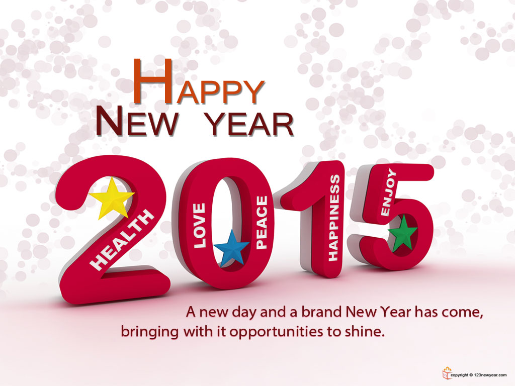 Happy New Year 2015 Wallpaper 1024x768