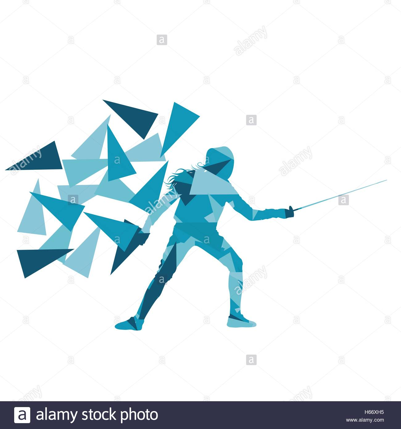 Woman fencing sport vector background concept illustration made of 1300x1390