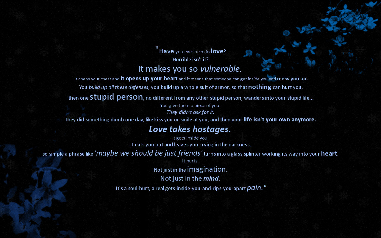 Love Quote Wallpaper by iKaite 1280x800
