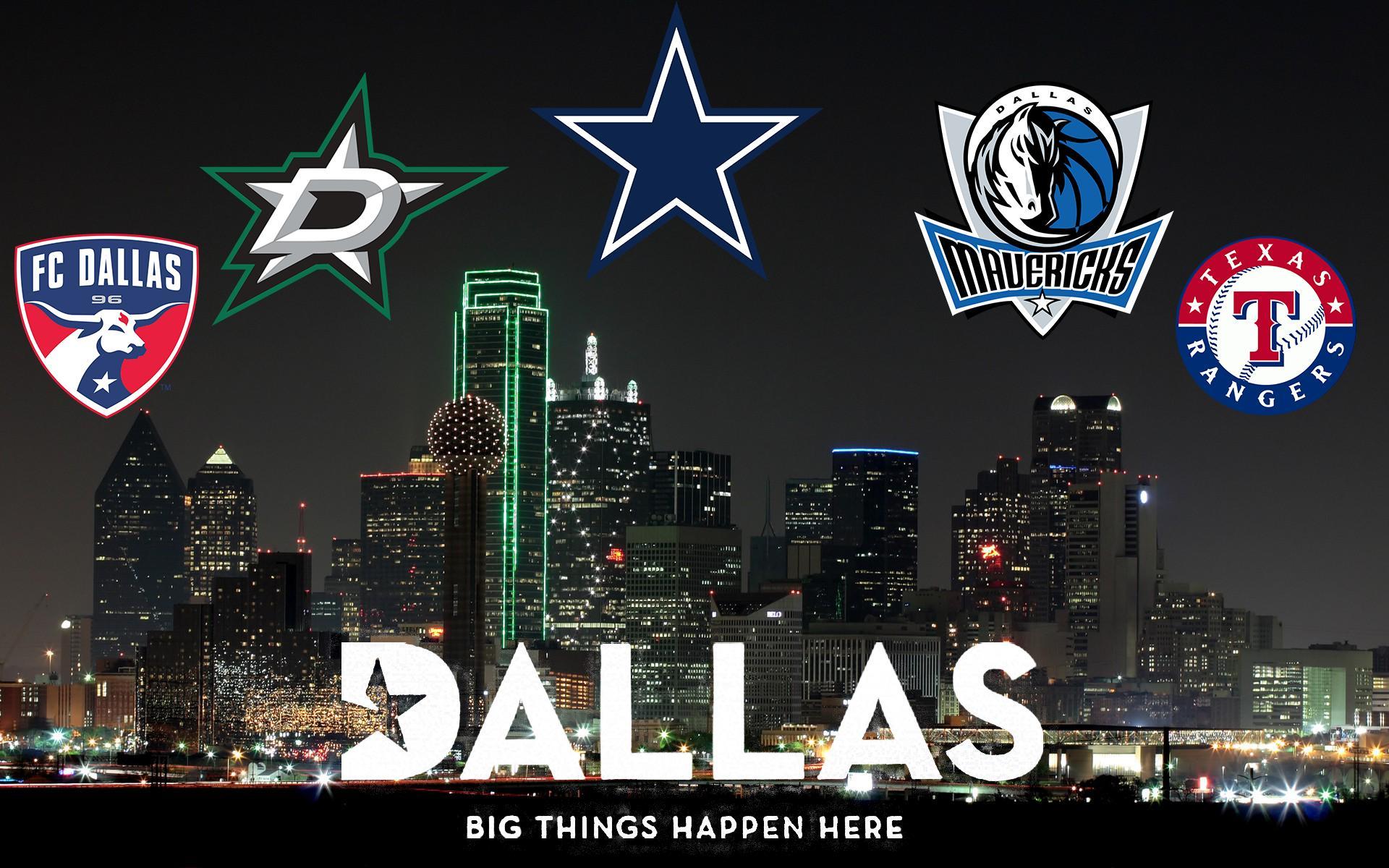 Dallas Wallpaper featuring Major Sports Teams Dallas 1920x1200