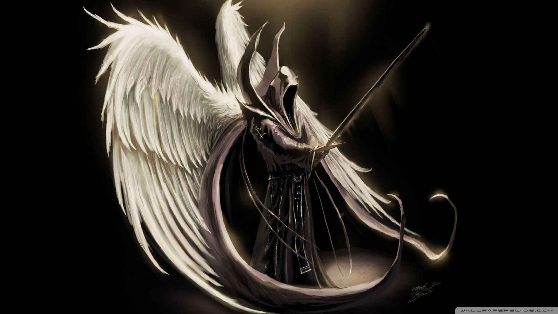 Fallen Angel Art Wallpaper 1920x1080 Fallen Angel Art 1920x1080