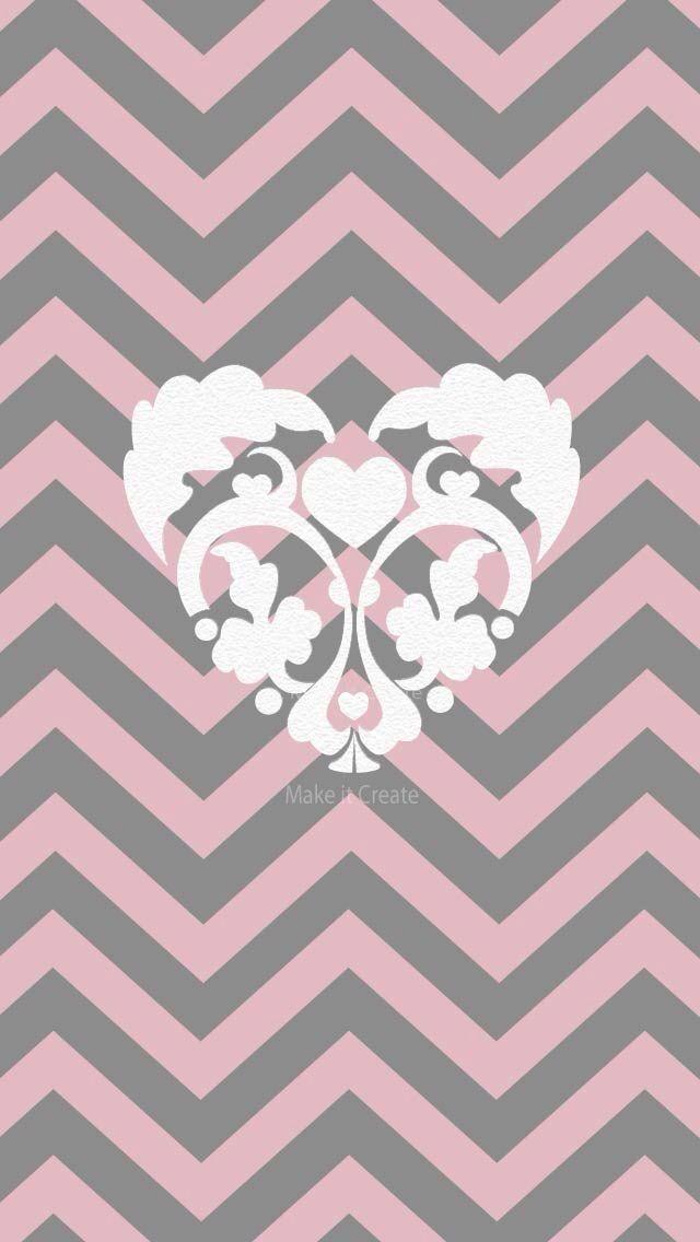 Pink Gray White Chevon Paisley Wallpapers Chevron 640x1136