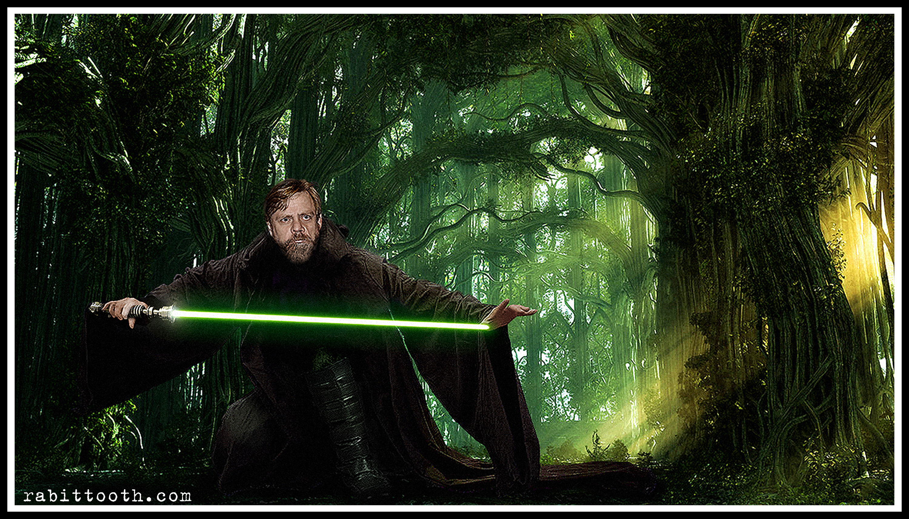 Luke Skywalker Return Of The Jedi Wallpaper Jedi master luke skywalker 3000x1713