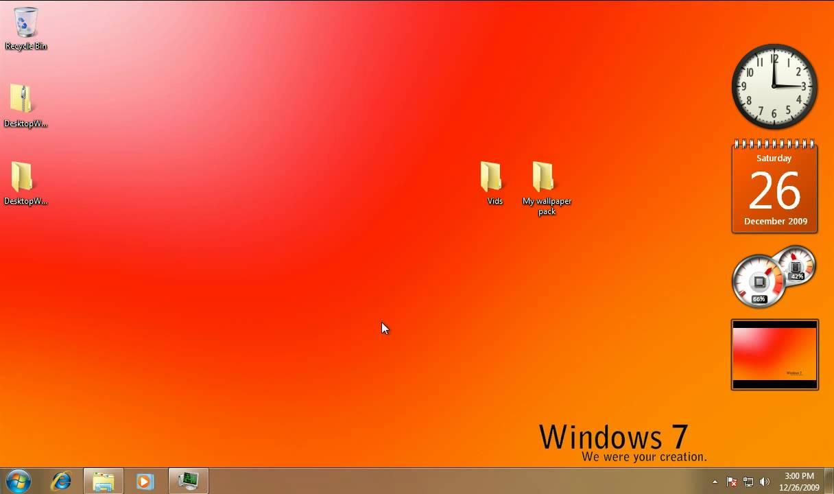 Desktop Wallpaper Changer Gadget for Windows Vista and Windows 7 1216x720