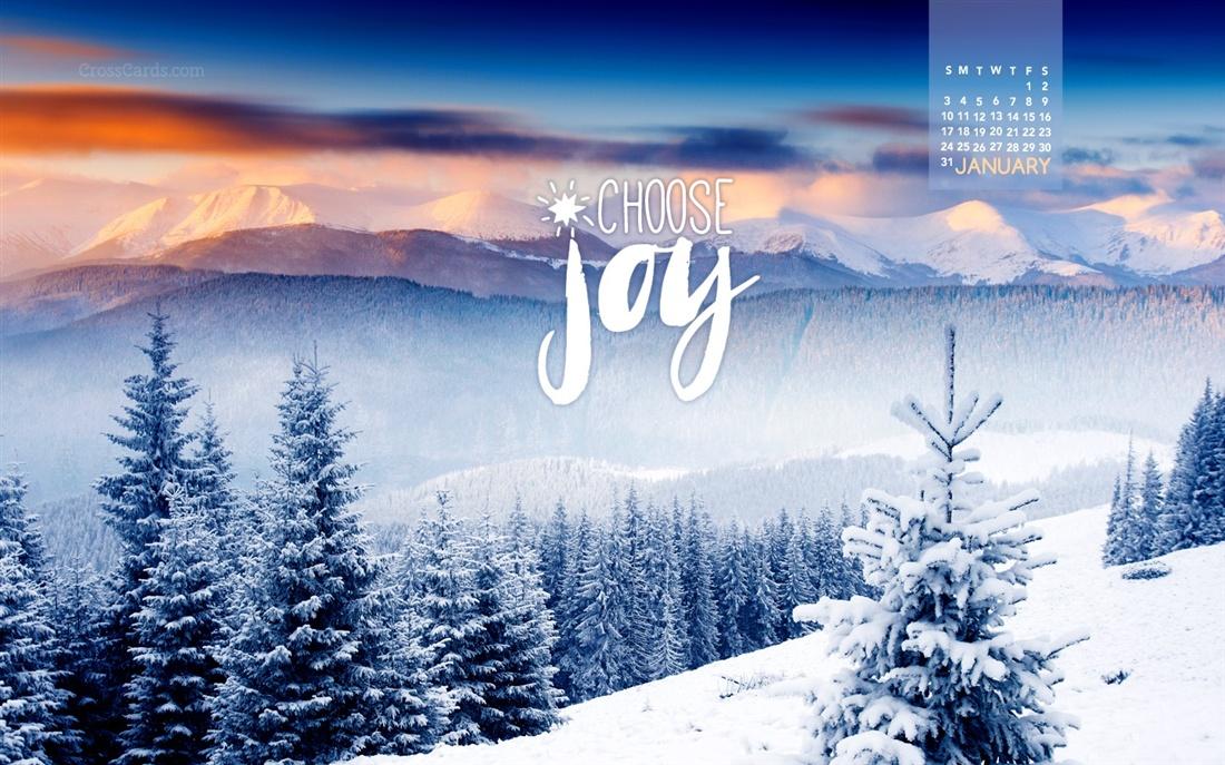 January 2016   Choose Joy Desktop Calendar  January Wallpaper 1100x687