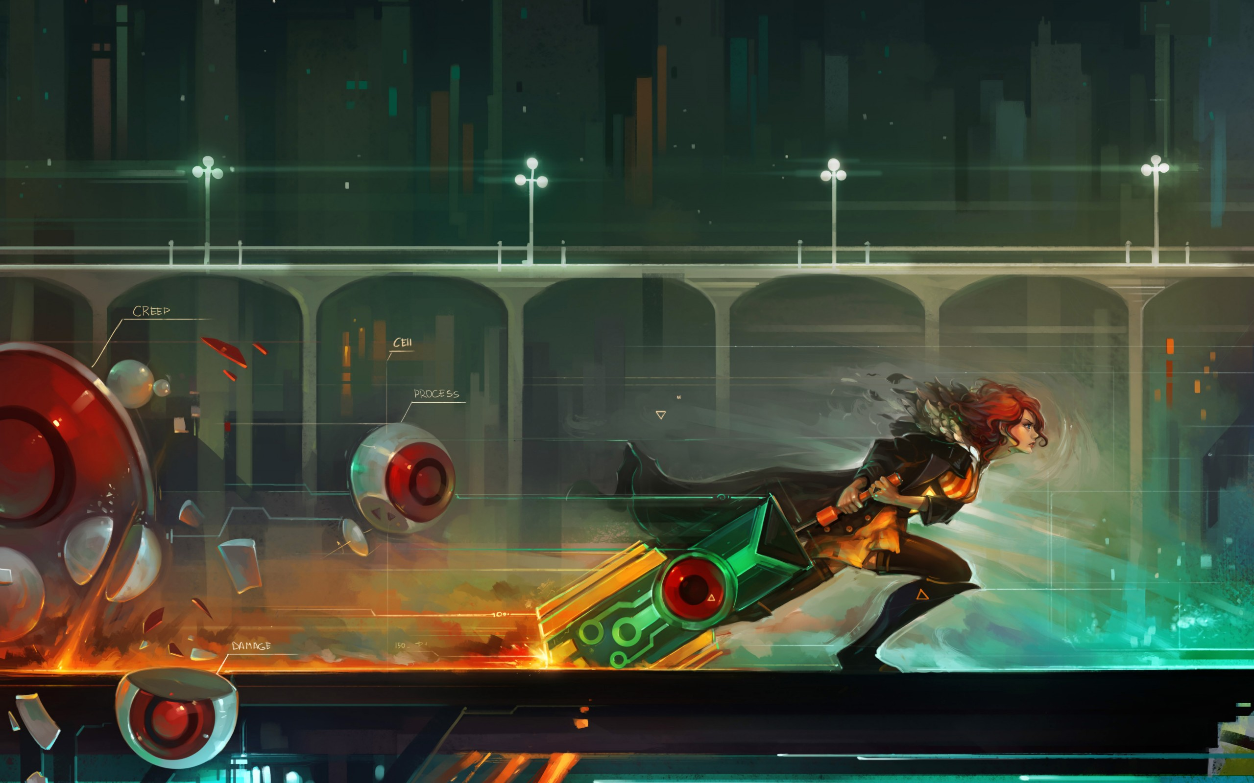 Transistor Computer Wallpapers Desktop Backgrounds 2560x1600
