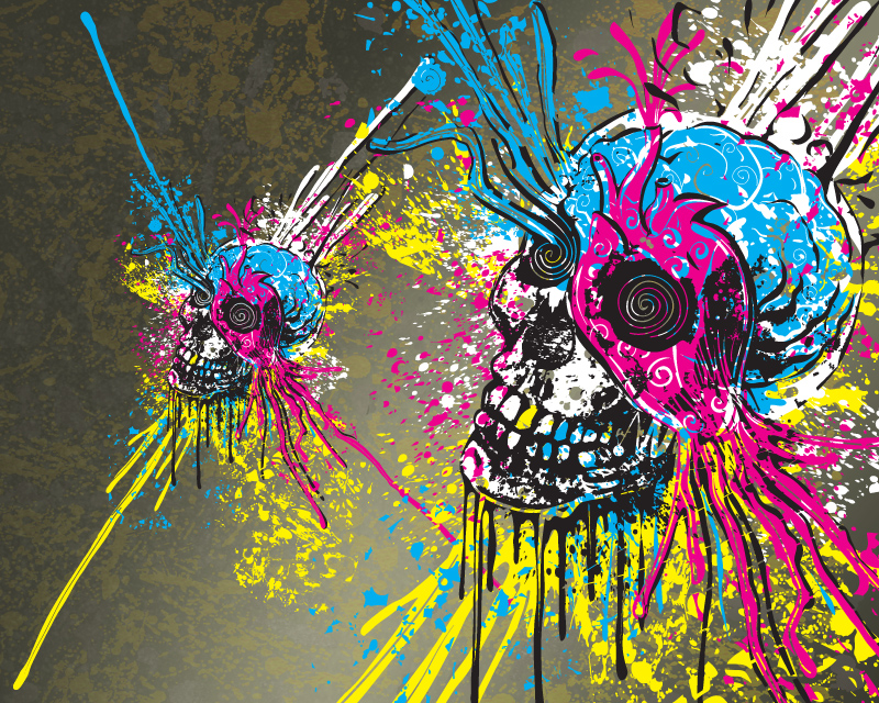 skull wallpaper 133 colorful - photo #25