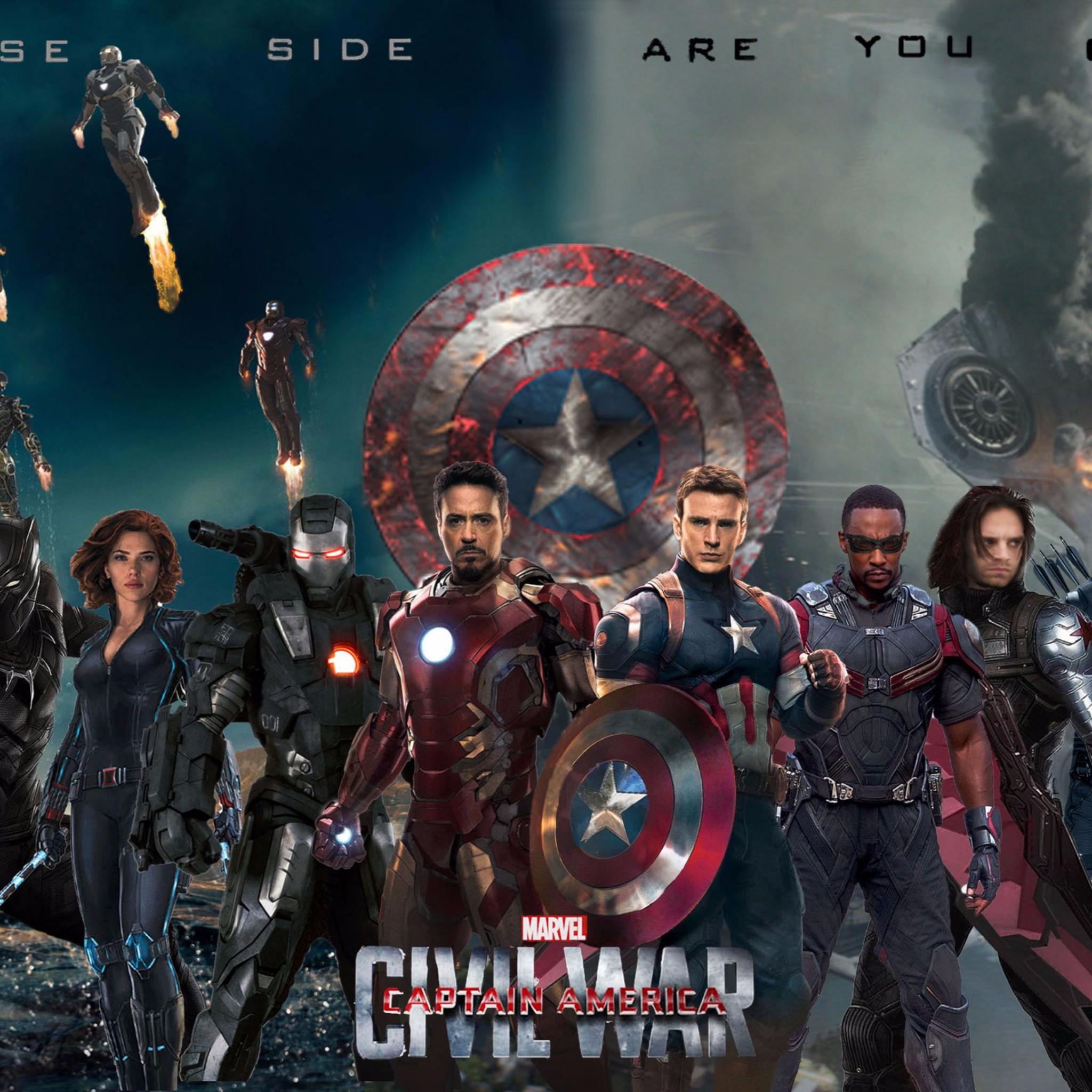 2016 Captain America Civil War 4K Wallpaper 4K Wallpaper 2048x2048
