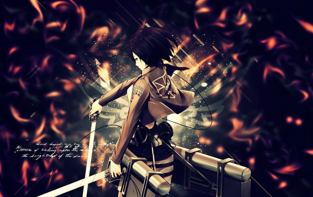 shingeki no kyojin Mikasa wallpaper by suffocator 1024x645