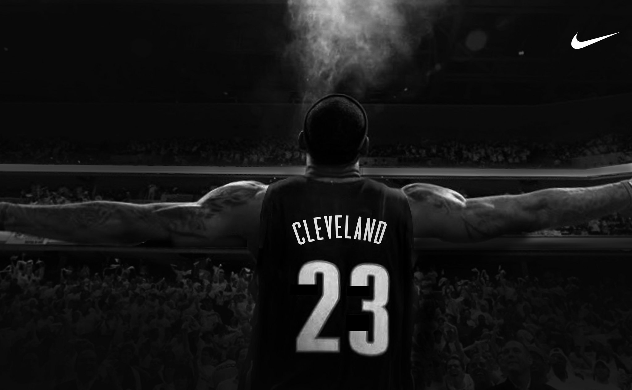 The new LeBron James banner is set to go up across form the Q USATSI 2048x1266