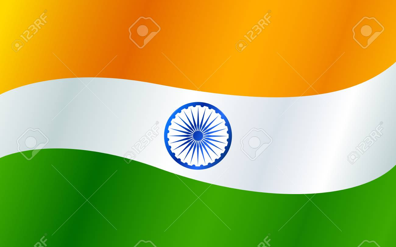 Tricolor Indian Flag Background For Republic And Independence 1300x812